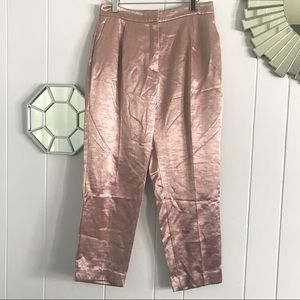 Zara Pink Glossy Satin Look Trousers S